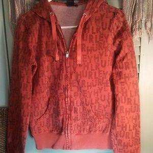 Hurley Mens' printed zip-up hoodie sz M